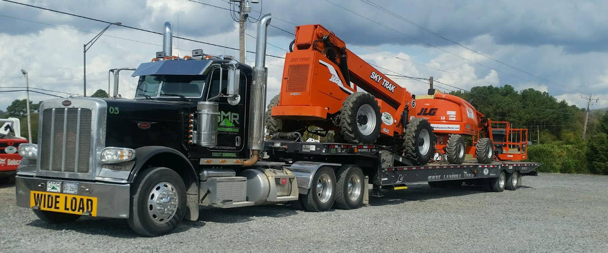 Equipment Hauling in Guntersville Alabama, Grant AL, Scottsboro, Albertville, Marshall County & Jackson County